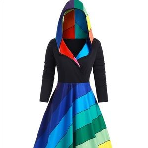 BNWT rainbow dress/jacket
